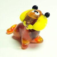 Original Blown Glass Figurine Art Murano TIGER Cub home decor toy Wild Cat