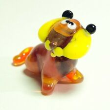 Miniature glass Art Murano TIGER Cub home decor toy Wild Cat figurine. VIDEO