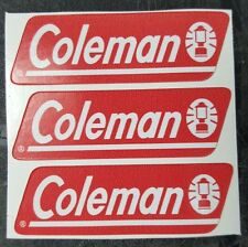 THREE (3) NEW COLEMAN REPLACEMENT STICKER LABEL DECAL LANTERN STOVE 1980s TO NOW