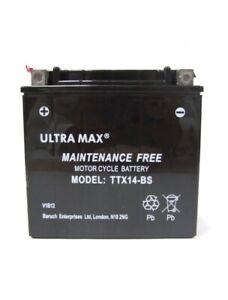 ULTRAMAX TTX14-BS (REPLACES YUASA YTX14-BS) Motorcycle Gel battery