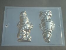 2 ON 1 SANTA/FATHER CHRISTMAS WITH SACK CHOCOLATE MOULD/MOULDS/3-D/13.5CM/XMAS