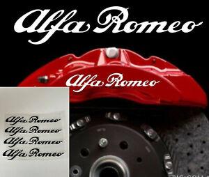 Black Alfa Romeo Calliper Stickers Heat Proof Decals  Buy One Set Get One Free