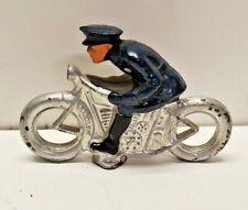 """Vintage Barclay Slush Metal Motorcycle 3.5"""" all Original"""