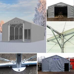 Ganzjährig Zelt 4x6 - 8x12m / 3m Seitenhöhe Industriezelt Lagerhalle PVC STARK
