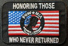 POW MIA Honoring Those Never Returned Embroidered Biker Patch
