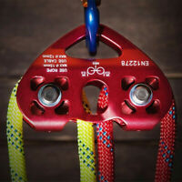 Zip Line Cable Trolley Outdoor Rock Climbing Rescue Dual Pulley Survival Tool