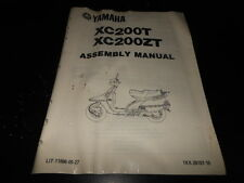 NOS OEM Factory Yamaha Assembly Manual 1987 XC200 T/ZT