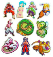 10 Pack Bulma Broly Buu Shenron Decal Prism Foil Dragon Ball Z DBZ Sticker Lot