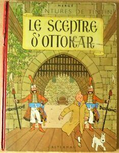 TINTIN - Hergé - LE SCEPTRE D'OTTOKAR -  B8 de 1953 Dos rouge