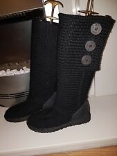 UGG AUSTRALIA CARDY PULL ON BOOT Nero SN 5819 UK 4.5/EU 37 US 6