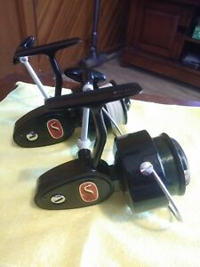 Two Mitchell 306 vintage fishing reels