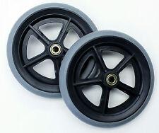 "Wheelchair Parts 8"" Front Rear Caster 7/16"" Invacare Drive C81BG-716 2 pcs NEW"