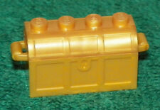 LEGO - Container, Treasure Chest, Complete Assembly - Pearl Gold