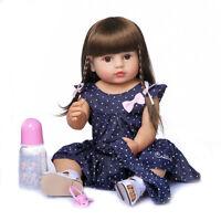 """22"""" Original NPK Reborn Baby Toddler Gir Soft Full Body Silicone Doll Bath Toy"""