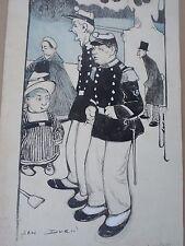 Jan DUCH -Dessin original ART NOUVEAU-1900-Humour-Enfant-BV-BD-drawing