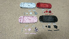 sony PSP 3000 Slim Full Housing Shell Case in metallic red, white black or pink