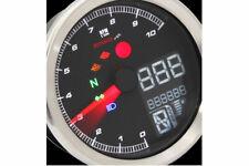 KOSO Digitales Multifunktions-Cockpit TNT-04 Drehzahlmesser /Tachometer mit Chro