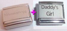 DADDY'S GIRL 9mm Italian Charm + 1x Genuine Nomination Classic I LOVE MY LITTLE