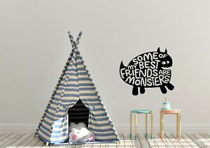 Some Of My Best Friends Are Monsters Childrens Kids Bedroom Wall Art Decal Vinyl