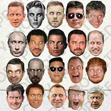 20 X CELEBRITY FACE PARTY MASKS FUN STAG DO FANCY MASK DRESS BIRTHDAY HEN #MP2!