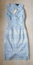 Womens Designer Lipsy London Lace Vneck Dress Bnwt Rrp £52 Size Uk 4