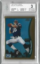 New listing 1998 TOPPS CHROME PEYTON MANNING ROOKIE RC BGS 3 COLTS