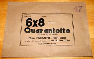 bustafoto vuota film 6x8= QUARANTOTTO Nino Taranto Vivi Gioi Riccardo Freda 1951