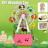 DIY Wooden Toys 3D Puzzle Assembled Crafts Toy for Kids Children Educational A