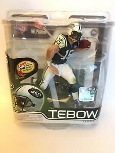 SIGNED AUTOGRAPHED Tim Tebow New York Jets McFarlane action figure NIB NFL New