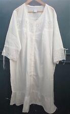 The Paragon Women's 3 X White Cotton Night Gown   NEW