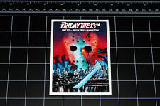 Friday the 13th Part 8 movie decal sticker Jason Vorhees Crystal Lake 80s horror