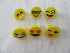 50 Fancy Dress Rubber Smile Face Rings Assorted