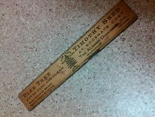 """old vintage antique 6"""" ruler Pine Tree Timothy Seed Albert Dickinson min chicago"""