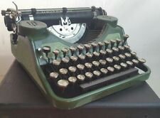 1930's vintage Underwood Portable typewriter granite green 558733