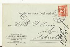 TER APEL 1925 Boekhandel J. NEGEN en Coutantdrukkerij