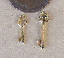 1:12 Scale Set Of 2 Keys Dolls House Fixture & Fittings Door Locks Fairy 1919