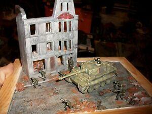 "1/72 gebaut / built ""Diorama Grenadiere erobern Stadt Preiser"" bemalt / painted"