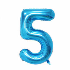 """40"""" Giant Blue Five Year Old Baby First Birthday 5 Month Number Float Balloon"""