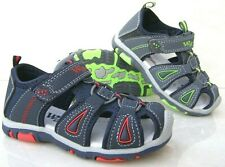 NEW BOYS LEATHER INSOLE CLOSED CAP TOES SPORTS SANDALS WALK HOLIDAY SUMMER SHOES