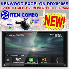 """KENWOOD 6.95"""" DVD MULTIMEDIA RECEIVER CARPLAY & ANDROID AUTO BULLET CAM DDX8906S"""