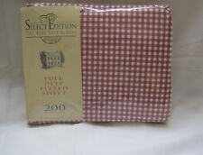 New Westpoint Stevens Inc Select Edition Full Deep Fitted Sheet Red Checkered