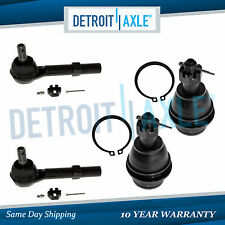 Pair Lower Ball Joints + (2) Outer Tie Rod Links Chevy Silverado GMC Sierra 1500