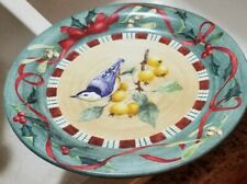 """Lenox Winter Greetings Everyday Nuthatch Dinner plate 11"""" Excellent Condition."""