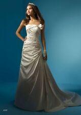 Alfred Angelo Crystal/Diamante Satin Wedding Dresses
