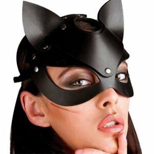 Cappuccio maschera catwoman donna gatto sexy intimo sadomaso sesso BONDAGE mask