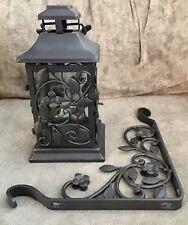 Longaberger Dogwood Wrought Iron Lantern Candle Holder & Hanger * Rare
