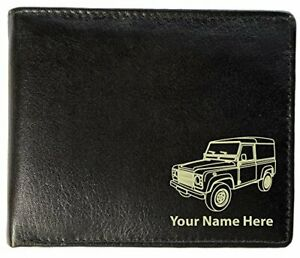 Land Rover Design, Personalised Mens Leather Wallet