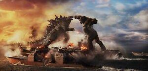 """Godzilla vs Kong 2021 Hot Movie posters 39""""x 83"""" Bigger Size Poster"""