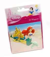 Disney Princess 3D Puffed Fridge Magnet Ariel The Little Mermaid Film Childrens