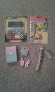 Stationery Crayola Glitter Glue 9 Puppy Dog Painting By Numbers Eraser BUNDLE